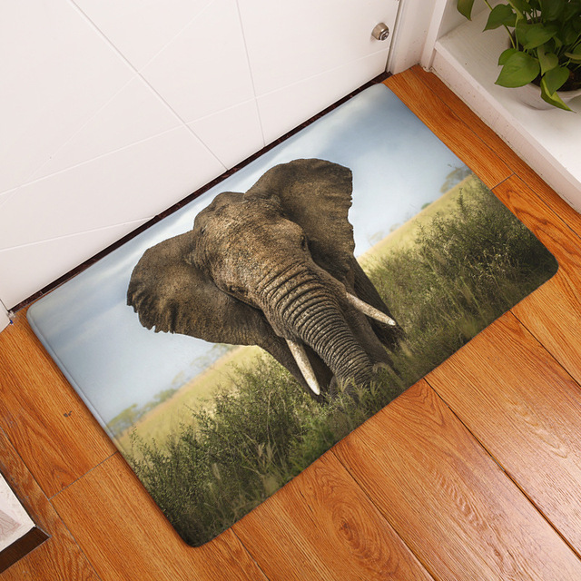 animal rugs for living room pictures of beautiful painted rooms cammitever wild elephant kitchen bathroom office bedroom livingroom floor door mat pat bathmat drop shipping