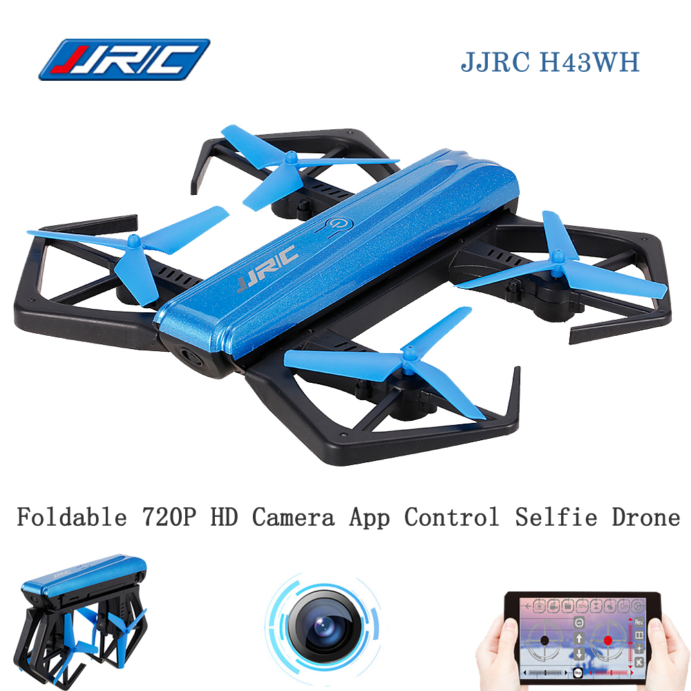 JJR/C JJRC H43WH CRAB WIFI FPV Quadcopter 720P Drone With Camera HD RC Selfie Drone G-sensor Foldable APP Control RC Helicopter jjrc h49wh sol rc mini drone with camera hd wifi fpv pocket selfie drone quadcopter rc helicopter dron vs jjr c h37 h47 h43wh