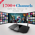 Inteligente Android TV Box Quad core 1 GB + 8 GB 2.4 GHz WiFi 4 K HD Envío 1700 Canales de IPTV Media Player con 6 Meses Europa Francés Árabe