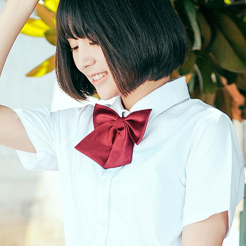 2 PCS / LOT JK Japonská školačka námořnická školní uniforma Čistá barva motýlek (9 barev Celý výprodej)