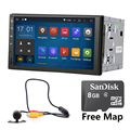 Quad core 1024*600  2DIN 176*101 Android 5.1 Universal Car GPS stereo radio and Universal camera WIFI RDS FM Mirror Link NO DVD