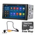 Quad core 1024*600 2DIN 176*101 Android 5.1 jogador Do Carro Universal GPS estéreo rádio e câmera Universal WIFI RDS FM Espelho Link SEM DVD