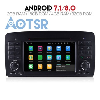 The Pure Android8.0 4+32GB Car DVD player For Mercedes Benz R W251(2006-2012) Audio GPS 2 din Radio multimedia headunit stereo