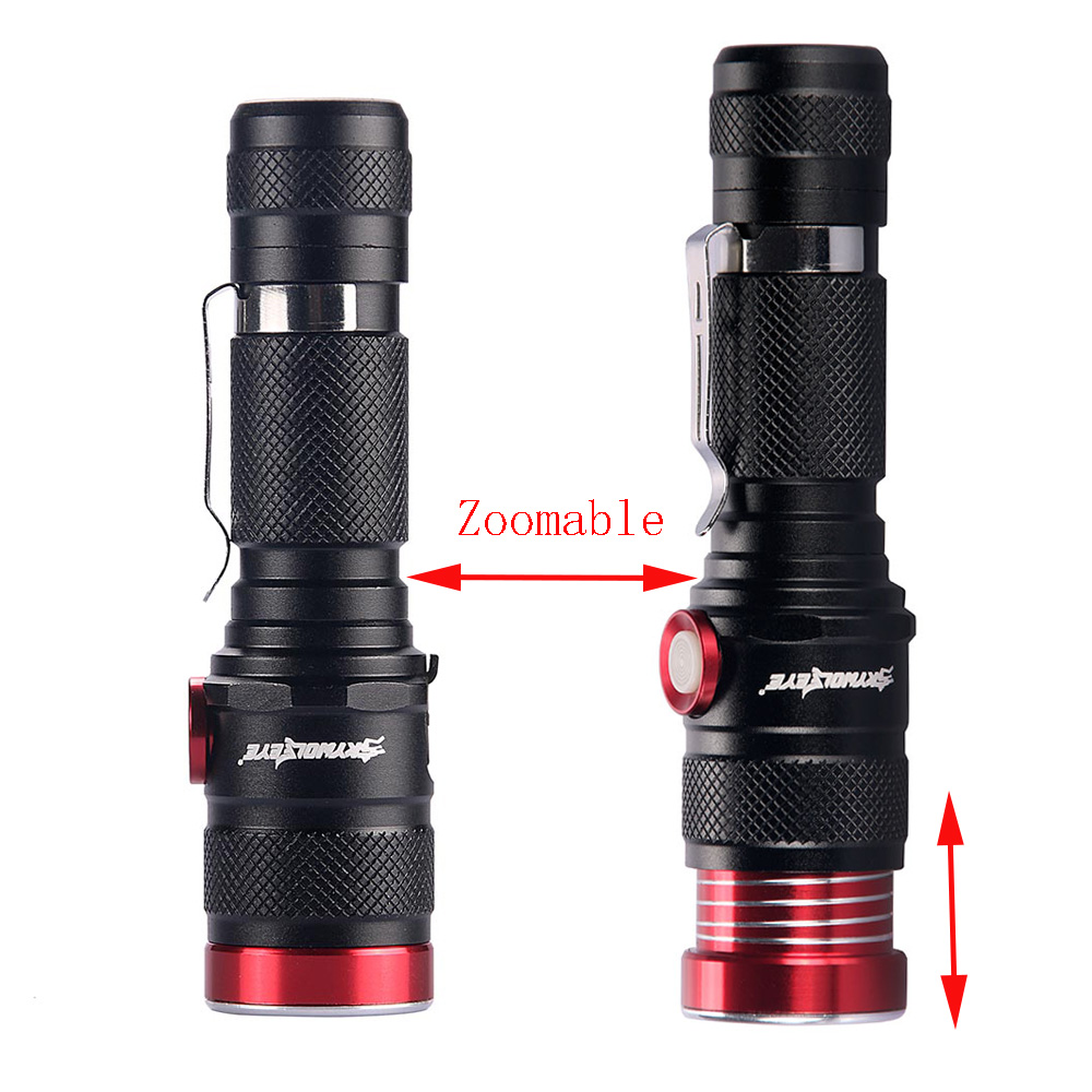 Zoom USB LED Flashlight Rechargeable 6000 lm XML L2 Powerful Torch lamp Tactical flash light Lantern for 18650