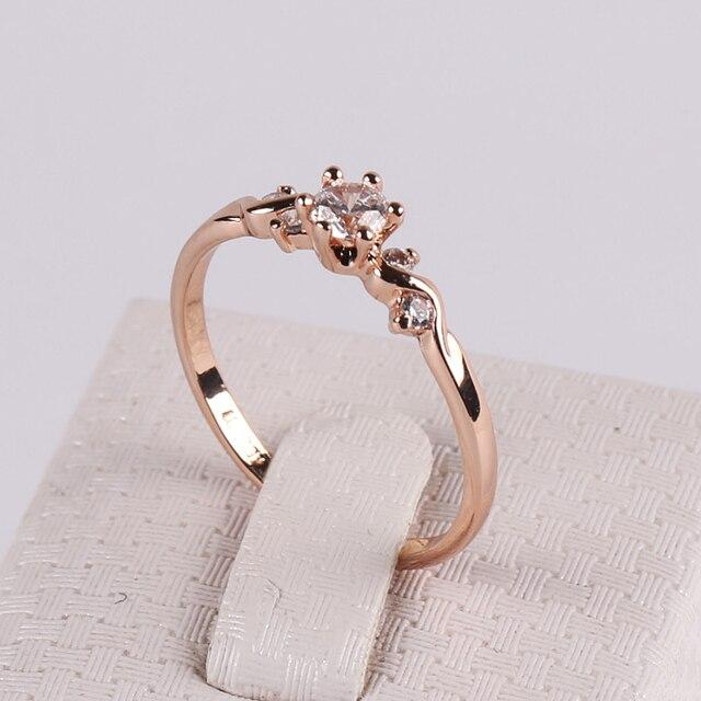 OL Lady Trendy Eight Heart Eight Arrows Zircon Ring 18K Rose Gold
