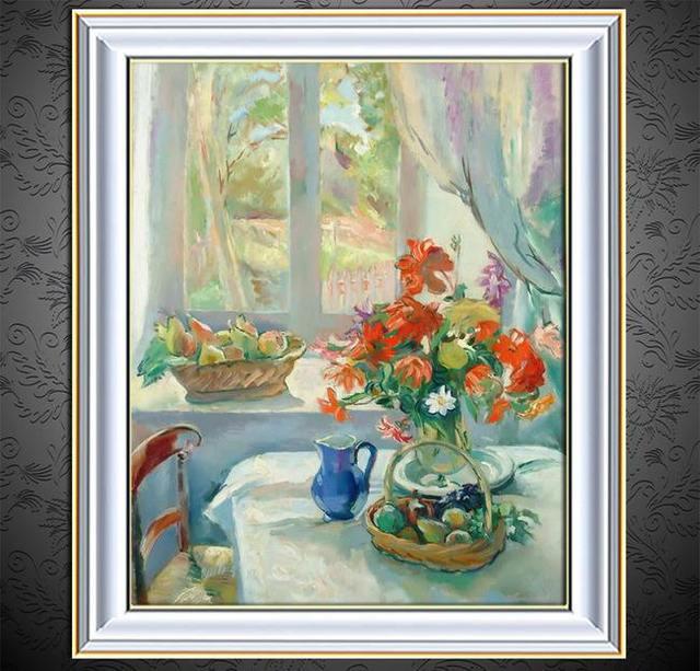 Dipinto a mano 100% pittura a olio del fiore dipinto A Mano dipinti ...