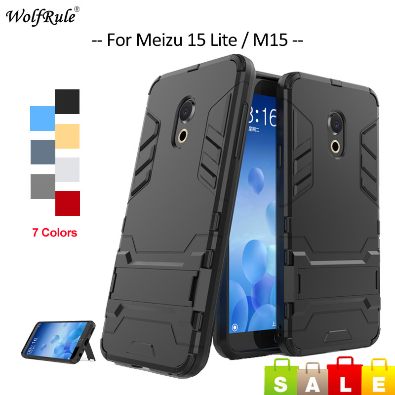 For <font><b>Meizu</b></font> 15 Lite <font><b>Case</b></font> <font><b>Meizu</b></font> 15 Plus <font><b>M6T</b></font> M6S M6 Note M5C M5S A5 E2 E3 Bumper <font><b>TPU</b></font> & PC Holder Cover For <font><b>Meizu</b></font> 15 Lite Phone <font><b>Case</b></font> image