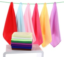 New 12PCS/lot 30*30cm Absorbent Microfiber Fabric Towels Micro Fiber Cleaning Cloths Wiping Dust Rugs towel wipes car