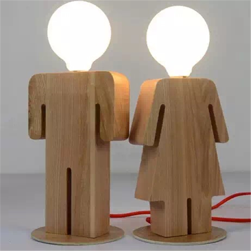 Lfh modern design boy and girl table lamp art decoration for Buy art online india