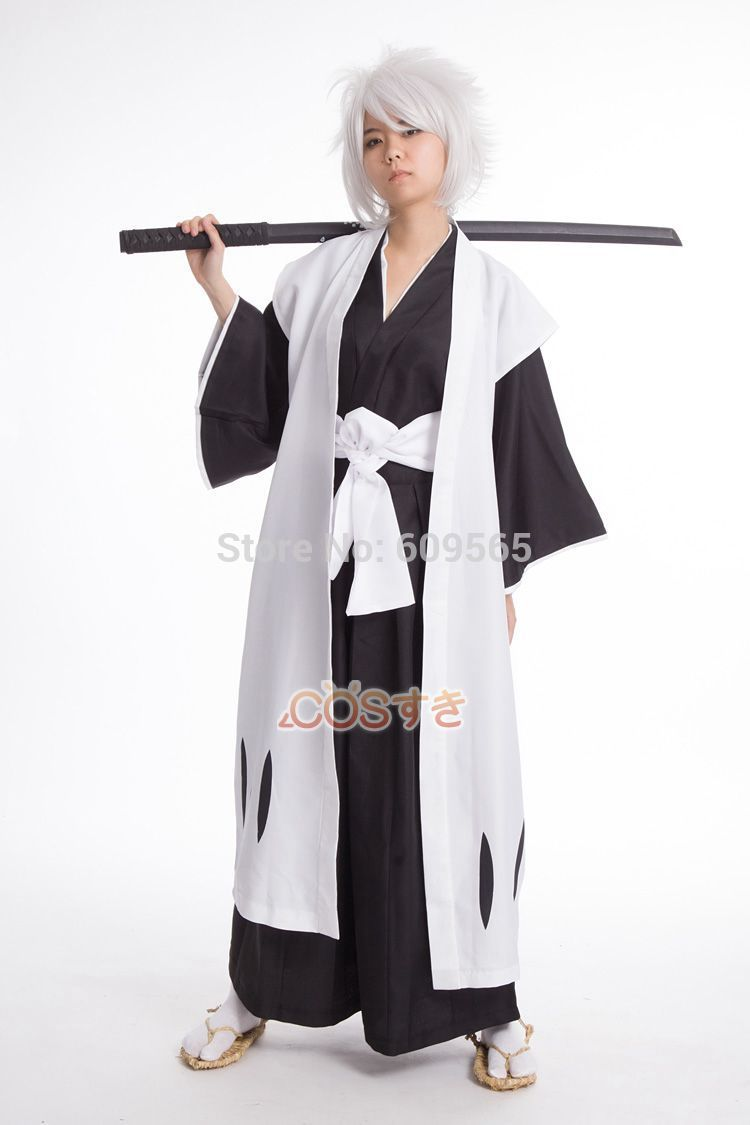 Japanese Anime Cosplay Bleach 10th Division Captain Toshiro Hitsugaya Adult Party Halloween Costumes For Men Custom