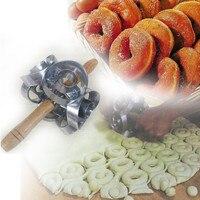 Rodillo Donas donas Molde Frito Molde de Aleación De Aluminio Se Combinan de forma circular de tipo hueco buñuelo galletas molde de la torta herramientas A2