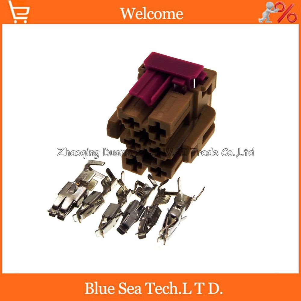 6 Pin 3.5mm/6.3mm automatic blower plug,resistance plug,Car electrical connector for VW,Tiguan,Passat,Passat B5,Audi A6 etc. turbo k03 53039700029 53039880029 058145703j n058145703c for audi a4 a6 vw passat variant 1 8t amg awm atw aug bfb apu aeb 1 8l