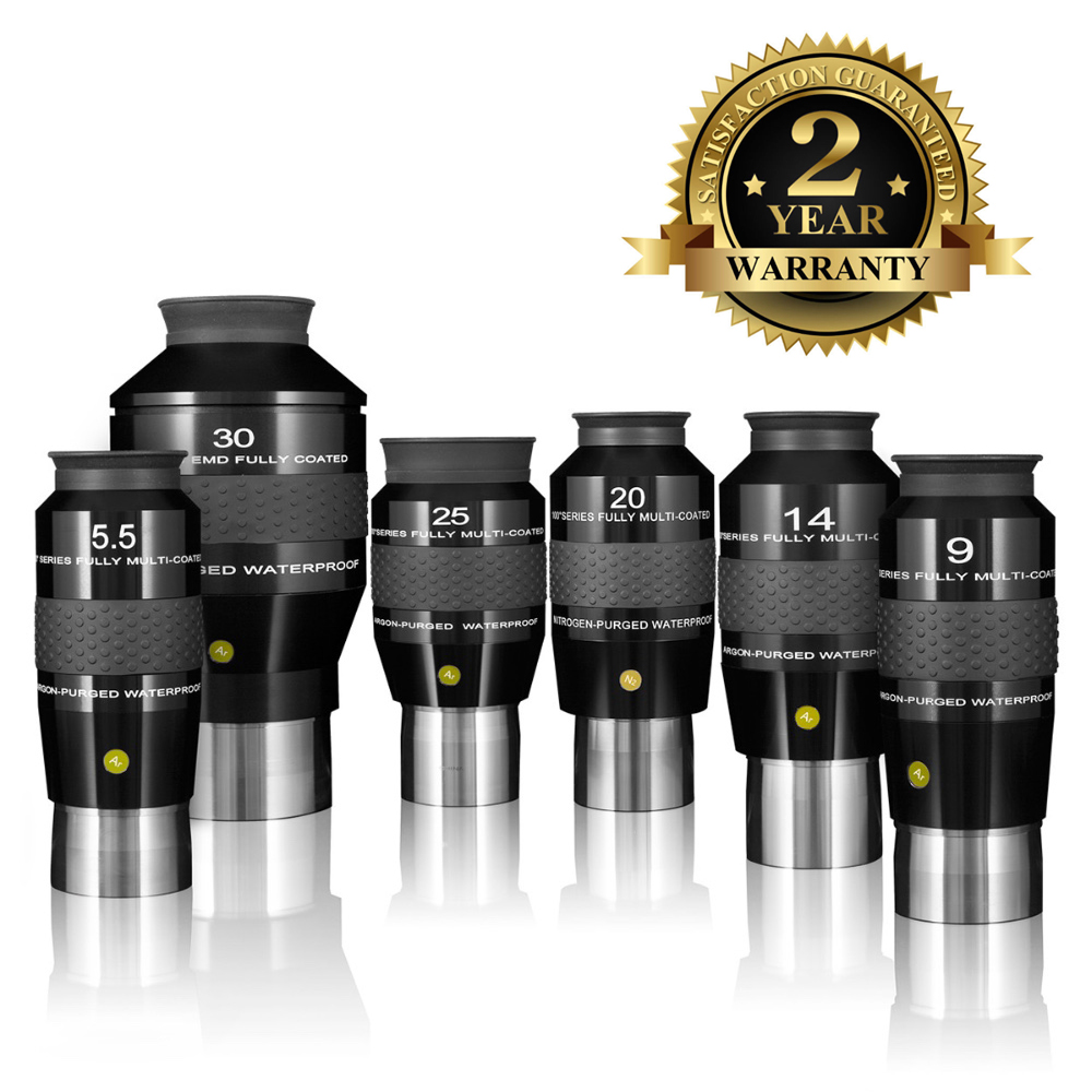 New Explore Scientific Eyepiece 100 Degree Ultra-Wide Waterproof Fully Multi-Coated 2inch 5.5mm 9mm 14mm 20mm 25mm 3inch 30mm