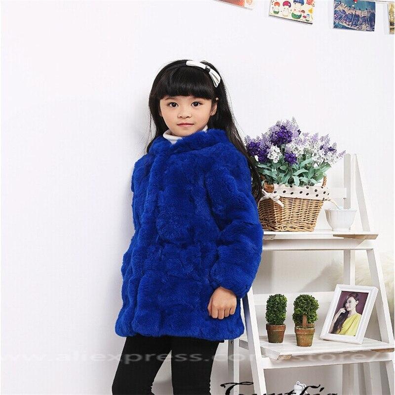 2017 Children's Rabbit Fur Coats Girls Autumn Winter Fur Warm ...