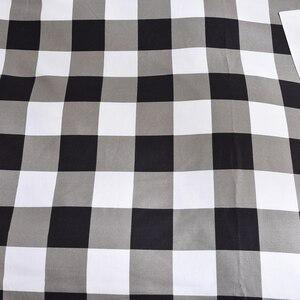 Image 2 - גבוהה איכות שחור לבן משובץ קצר דפוס מצעים סט מיטת רפידות מלך שמיכה כיסוי מיטת גיליון ציפות כיסוי סט 3 /4 יח\סט