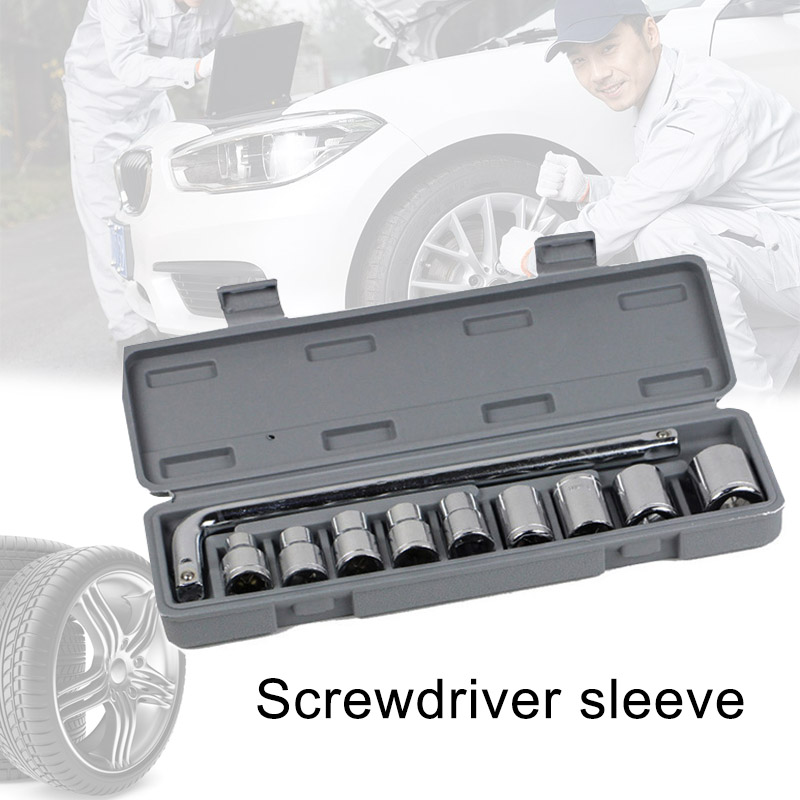 10pcs/set Wrench Vehicle Screwdrivers Sleeves Double end Multifunction Car Repairing Tools Car Styling