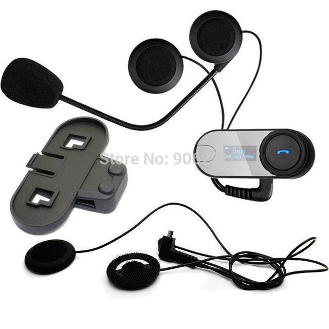 Frete Grátis! TCOM-SC W/Tela 800 M Interfone do Bluetooth Motocicleta Moto Capacete Headset + Fone de Ouvido + Suporte Macio
