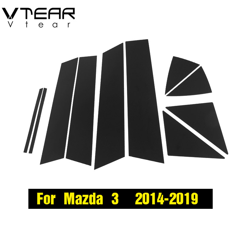 Image 5 - Vtear For Mazda 3 Axela 2014 2019 car window BC column sticker trim mirror reflection panel Exterior accessories hatchback sedan-in Car Stickers from Automobiles & Motorcycles