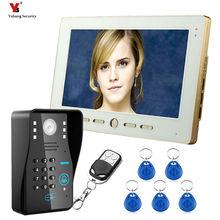 Yobang Security 10″TFT RFID Password Video Door Phone Doorbell Intercom System With IR Camera 1000 TV Line Remote Access Control