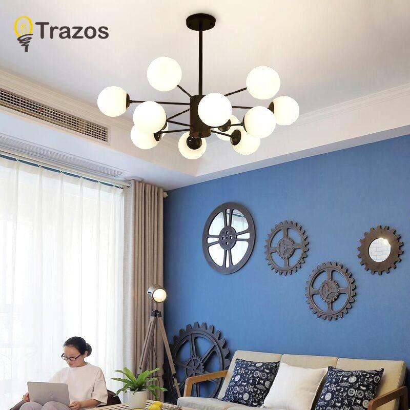 Plafond moderne à leds éclairage de chandelier Salon Chambre Lustres Creative Accueil Luminaires AC110V/220 V Livraison Gratuite