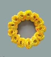 16 inches geel rose kransen home & bruiloft voordeur & muur decoratieve bloemen krans party verjaardag decoratie
