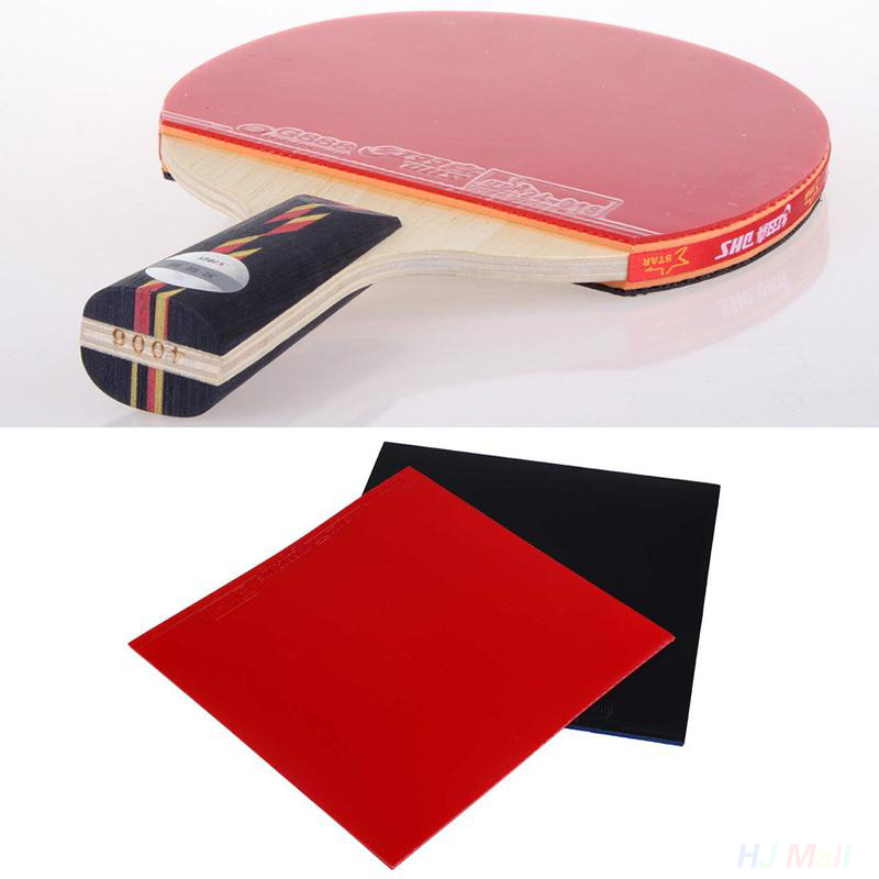 2 Pcs High Quality Table Tennis Racket Pimples Sponge Table Tennis Rackets Racquet Sports Pingpong Rubber In Black /Red Random