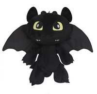 In Stock Night Fury Plush Toy How To Train Your Dragon 2 Plush Toy Toothless Dragon Stuffed Animal Dolls Movie Black Kids Toys