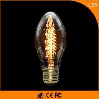 50Pcs 25W Vintage Design Edison Filament E12 E14 LED Bulb,C55L Energy Saving Decoration Lamp Replace Incandescent Light AC220V