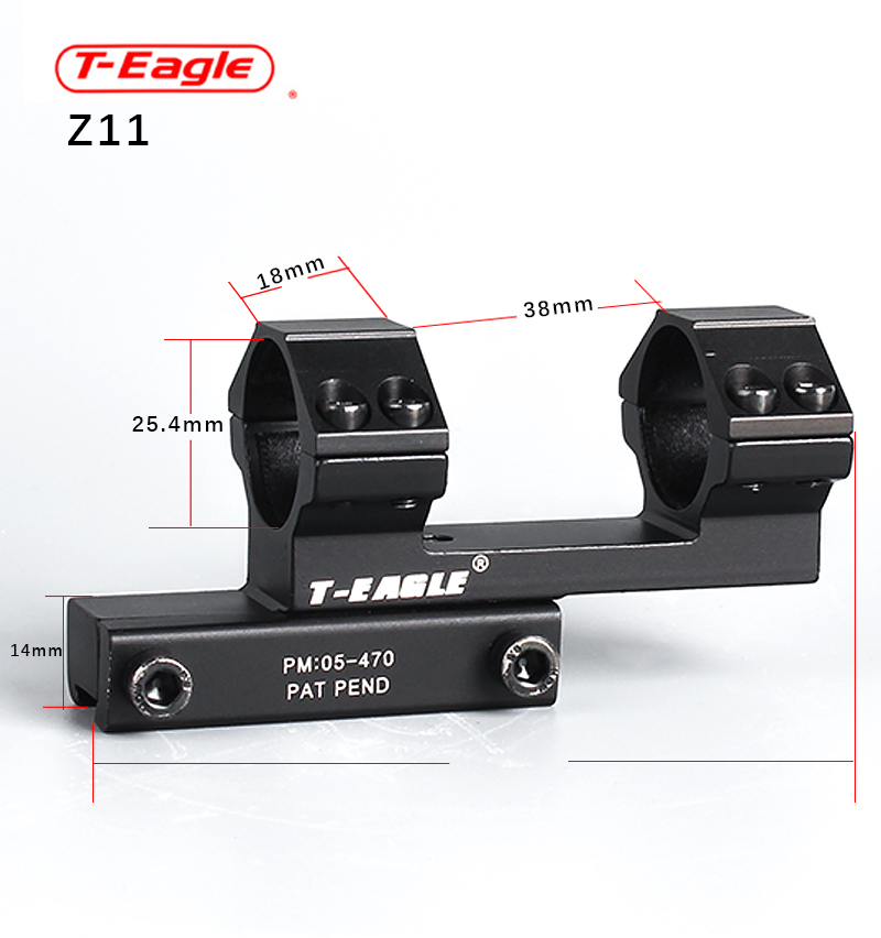 2019 T-EAGLE 11/20 integration mount 25.4mm riflescope ak scope mount red dot mount ar15 accessories single point sling mount image