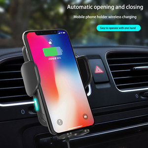 Image 3 - wireless car charger for iphonex xs automatic induction qi wireless car holder for samsung s8 s9 rotatable car charger bracket