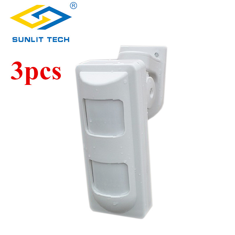 3pcs Wireless Dual PIR Sensor 433Mhz Infrared Motion Detector Alarm Pet Immune Sensors For GSM/PSTN Home Security Alarm System kerui wireless home alarm anti pet immune pir motion sensor infrared detector for gsm pstn wifi alarm system g18 g19 w2