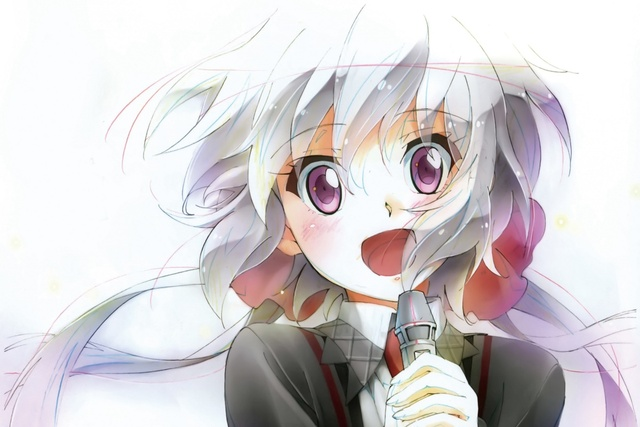 Senki Zesshou Symphogear Chris Yukine Anime Girl Face Microphone KA977 Living Room Home Modern Art Decor