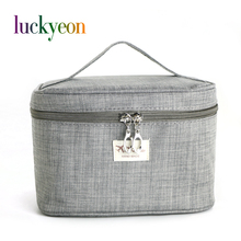 Brand Make Up Bags Women Brush Necessaries Cosmetic Bag Travel Toiletry Storage Box Makeup Bag Wash Organizer Cases