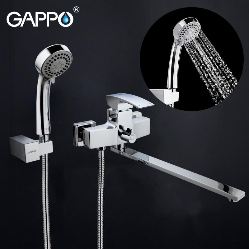GAPPO bathtub faucets bathroom shower faucet bathtub wall mounted bath mixer waterfall faucet basin sink mixer