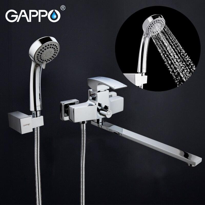 GAPPO Bathtub Faucets Bathroom Shower Faucet Bathtub Wall Mounted Bath Mixer Waterfall Faucet Basin Sink Mixer Tap