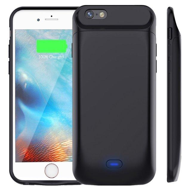 Bên ngoài 5000/7200 mAh Thông Minh Magnetic Lại TPU Bumper Điện Bank Gói Battery Charger Trường Hợp Che Cho iPhone 6 6 s 7 8 cộng với
