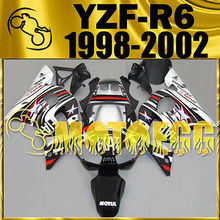 Motoegg Injection Fairings For YAMAHA YZF-R6 YZF R6 1998-2002 Star Black #M50   Motorcycle plastic