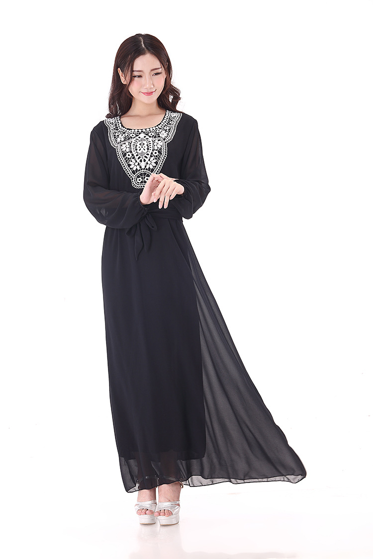 6 kleur vrouwen islamitische kleding maxi lange mouw lange for Islamitische sportkleding vrouwen
