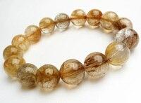13.5 мм из натуральной Медь кристалл кварца круглый Бусины Модные украшения Для женщин Mens Stretch Шарм мощный браслет