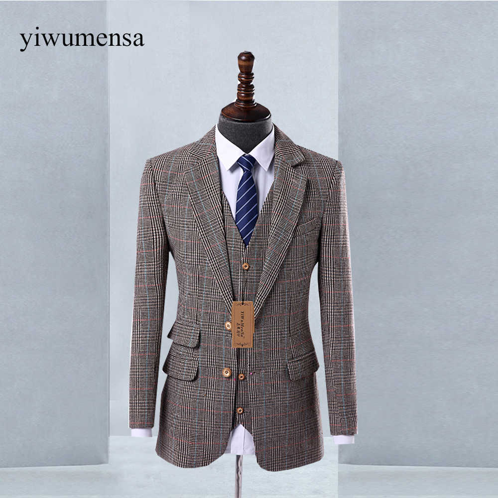 super cheap compares to really comfortable terrific value Tweed Wool Herringbone British Style men suit 2018 Custom ...