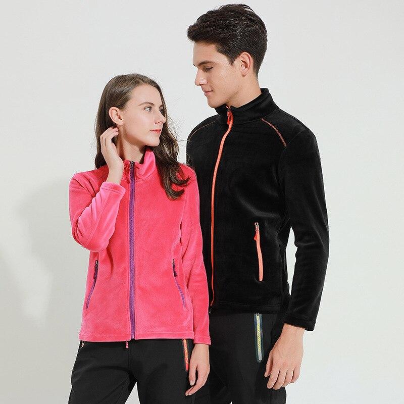 Breathable wear resistant outdoor silver fox fleece fleece for men women fleece autumn winter breathable windproof warm jacket
