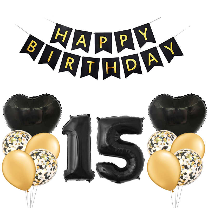 15 Years Old Happy Birthday Party Balloon Boy Oh Girl Latex Helium Childrens Surprise Celebration