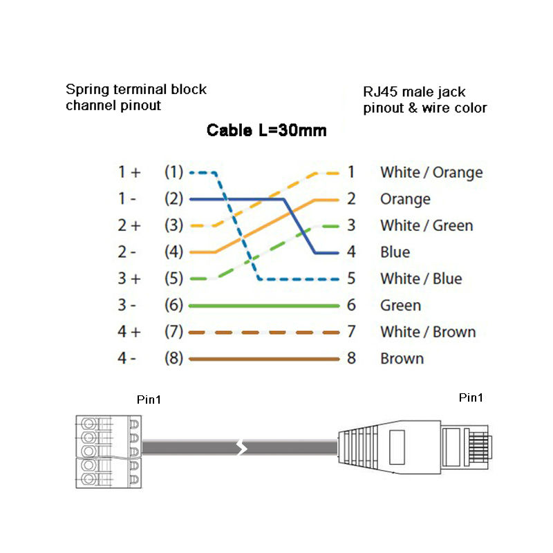 rj45 female 8 pin pinout diagram html