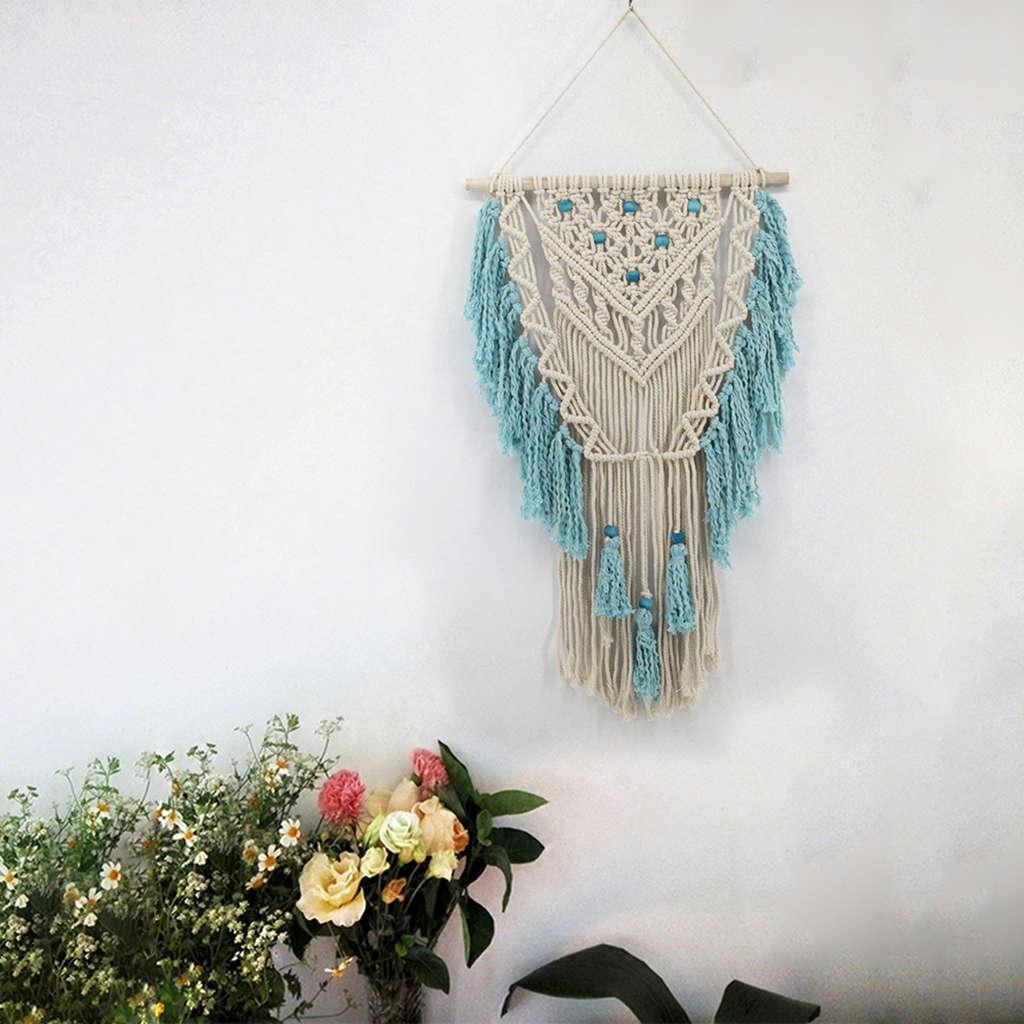 de algodão boêmio tapeçaria com borla boho