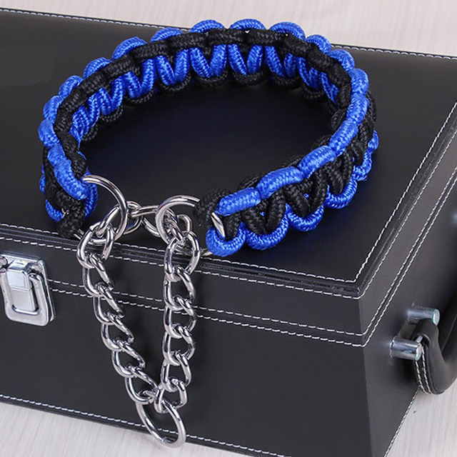 Adjustable Metal Dog Training Chain Collar 1