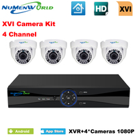 NuMenWorld XVI 4CH CCTV System 1080P HDMI AHD CCTV DVR 4PCS 2 0 MP IR Indoor