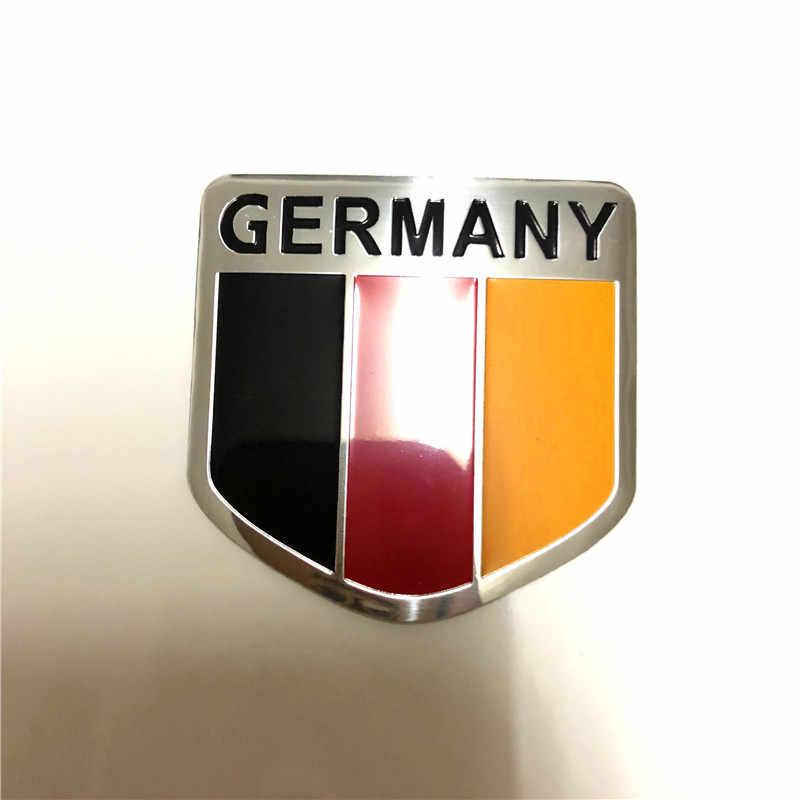 Carro 3d metal alemão frança estados unidos bandeira americana mapa adesivo emblema do carro adesivo para todos os universal estilo do carro