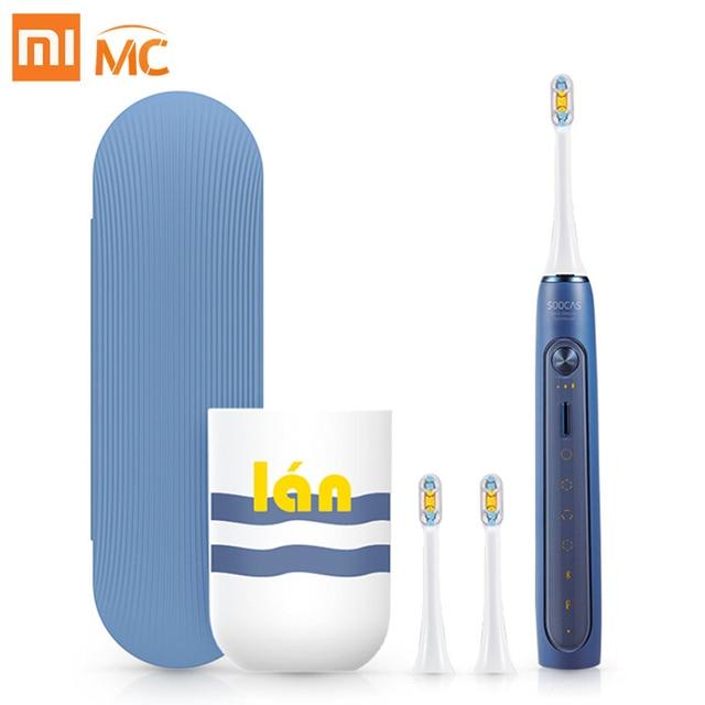 Xiaomi Mijia elektryczna soniczna szczoteczka do zębów Soocas X3/X5 ulepszony dla dorosłych wodoodporny ultradźwiękowy automatyczna szczoteczka do zębów USB akumulator