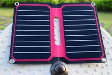 Solarparts 5V/10W ETFE high efficiency portable solar charger 12V flexible solar panel cell foldable charger phone outdoor tool.