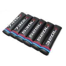 цена на Car carbon fiber seat belt cover shoulder pad for bmw 320Li 330i 520Li 525Li 530Li 730Li 740Li 118i 116i tail model embroidery